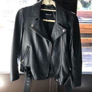 Madewell Black REAL Leather Jacket